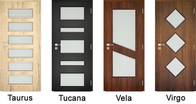 dekorfóliás beltéri ajtó üvegezési opciók